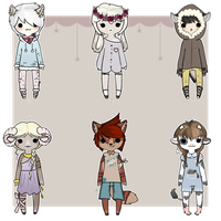 Mini Kemonomimi/Anthro Adopts [CLOSED] by Xecax