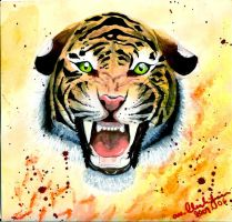angry tiger by Foggy1318