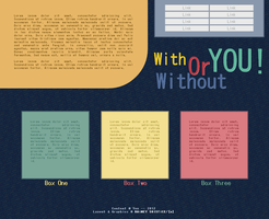 With Or Without YOU! -- Free Web Layout by solazora