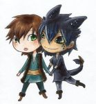 hiccup and toothless chibis by BettyPimm