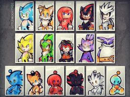 StH. Sonic Stickers by Littlemoon1502