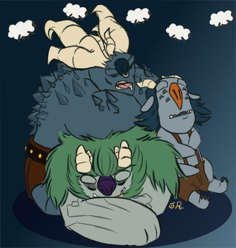 Sleepy Trolls by JRdraws
