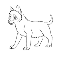 Free Wolf Pup Lineart by Atani1