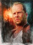 bruce willis by ivangod