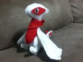 Red the Lugia plushie by LittleWhiteWolfAngel