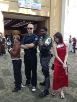 Albert Wesker with Resident Evil Cosplayers by Valux