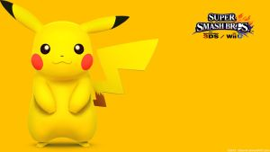 Pikachu 2 |Wallpaper| Super Smash Bros. Wii U/3DS by Gibarrar