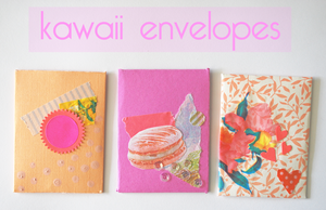kawaii collage envelopes by likegiselle
