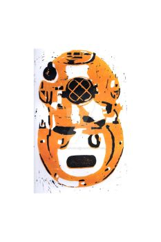 Mask Lino Print by BeTtEr-Of-TwO-EvilZ