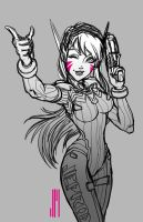 D.Va from Overwatch (Rough Sketch) by artofJEPROX