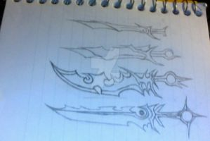 Half Demon Hero's Evolving Sword by IcarusxR66Yx