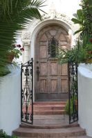00077 - Arched Wooden Door with Gate by emstock