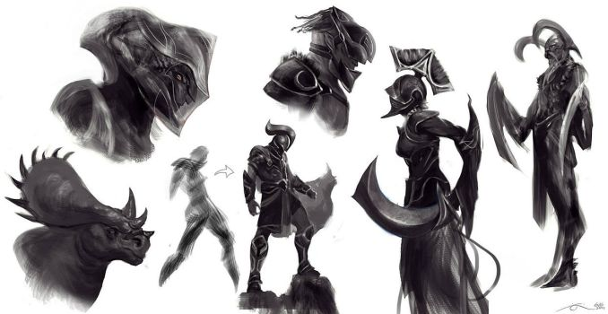 Some Creature/character sketches by eklavvya
