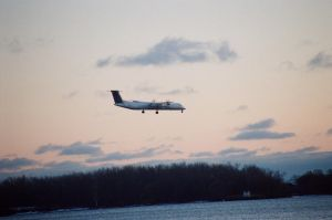 Landing At The Island Airport #6 by Neville6000