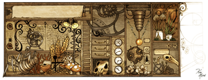 Cabinet of Curiosities no.1 by KiriMothDesigns