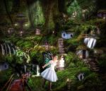 Fairy Village Deep In The Green Wood by MataHari22
