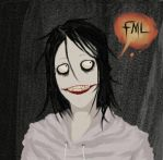 Jeff the killer is unamused by NoOneElseThanEya