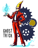 Ghost trick sissel by rainmaker113 on deviantart for Sessel ghost 05