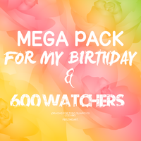 ~#Mega Pack For My Birthday and +600 watchers. by FeelThisArt