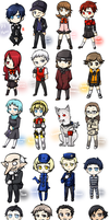 Persona 3 Portable Chibis by ttwldnjs