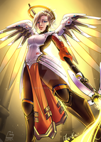 Battle Angel Mercy by Moenkin