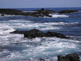 ocean with cliff 5 by maryllis-stock
