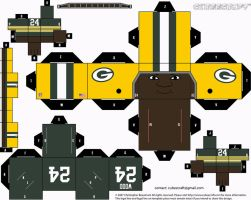 Willie Wood Packers Cubee by etchings13