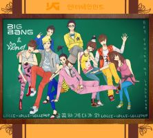 YG Family- Big Bang and 2ne1 by sheepsgobaaa