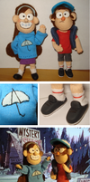 Mabel and Dipper dolls by Abi-R