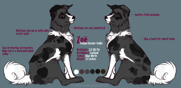 Fursona Reference - Zoe by CatLuvsCookies