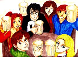HP: butterbeer party by privee