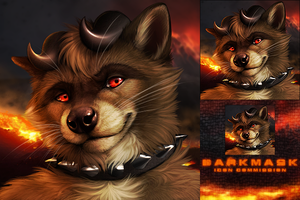 Darkmask Icon Commission by DarkIceWolf