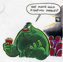 Hulk at the Movies by Mr-DNA
