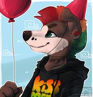 Have a belated bday balloon by BakaPup