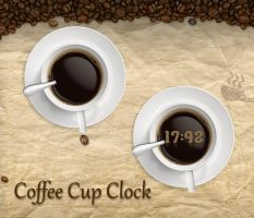 Coffee Cup Clock for xwidget by jimking