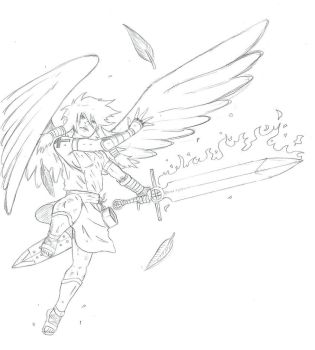 365-Day Drawing Challenge day 34: Angel by Flaregun101