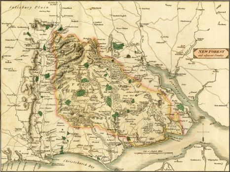 Map of the New Forest in 1811 by barefootliam