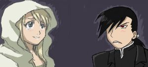 Winry and GreedLing by Duelistabbeyryou