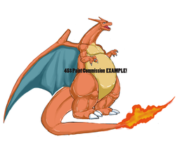 Charizard 45$ Color Commission example by exuitirteiss