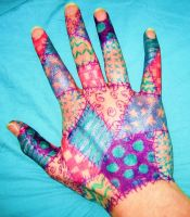 Patchwork Hand 1 by aubzilla