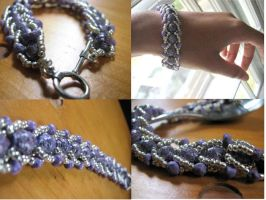 Woven Paper Bead Bracelet by piratewh0re