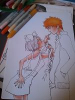 ichiruki copic markers WIP by kirakam