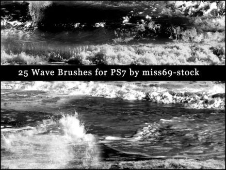 Waves-ocean brushes by miss69-stock