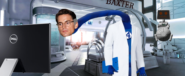 Reed Richards in his lab by jaredofmo