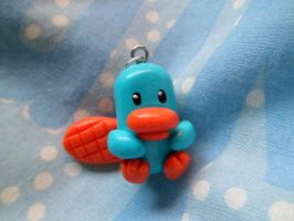 Perry the platypus necklace by Lunatica-Reiko