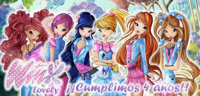 Winx Club Lovely - 4th Anniversary by WinxLovely