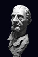 Clay Bust Study by Aslo-enxy