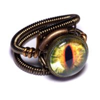 Steampunk Yellow Dragon Ring by CatherinetteRings