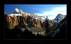 C4D Winter in Zion by cravingfordesign