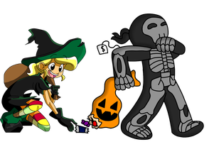 Halloween collab by s0s2
